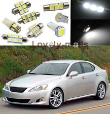 White SMD Car LED Interior  Lights  Package Kit For Lexus Is250 Is350  2006-2013