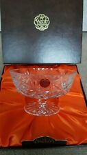 Webb Continental Lead Crystal Cut Glass Footed Fruit Bowl Boxed