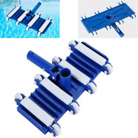 Swimming Pool Cleaning Concrete Flexible Vacuum Head With Side Brushes  Debris