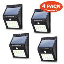 Waterproof LED Solar Power PIR Motion Sensor Wall Light Outdoor Yard Garden Lamp 4pack