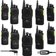 10*Baofeng/Pofung GT-1 UHF 400-470MHz 5W FM Radio Talkie Walkie Vert+USB Câble