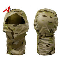Camouflage Tactical Outdoor Hunting Full Face Mask Balaclava Hood Desert Camo