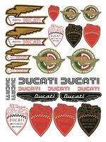 Cafe Racer Ducati Meccanica old retro sheet stickers decals set 1000 Sport /167