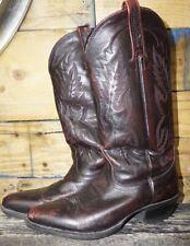 Nocona Cowboy Boots, Vintage exotic Leather Burgundy Red Brown Size 7 D Men's