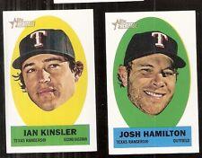 Lot of 2 2012 Topps Heritage Texas Rangers Stickons - Josh Hamilton Ian Kinsler