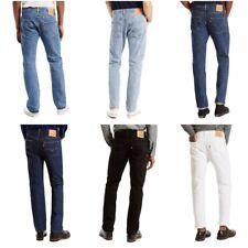 Levis 501 Jeans Mens Original Button Fly Fit Denim Light Dark Blue Black White
