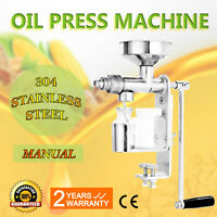 Manual Oil Press Machine Stainless Steel Nuts Seed Oil Expeller Homemade oil