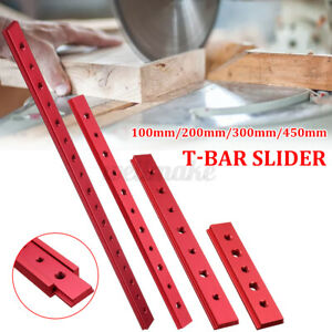 600mm Aluminium Alloy T-track/T-Bar Slider Miter Tool Jig Fixture Woodworking UK