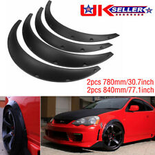4pc Universal Flexible Car Fender Flares Extra Wide Body Wheel Arches Mud Guards