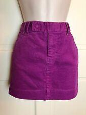 GAP 0 Mini Corduroy Skirt Belt Loops Purple Very Cute