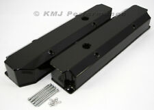 Dodge Mopar 383 440 Powder Coat Black Aluminum Fabricated Long Bolt Valve Covers