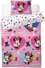 Disney Minnie Mouse Single Duvet Quilt Cover Set Girls Pink Bedroom