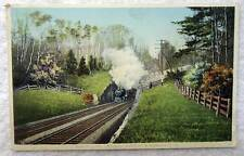POSTCARD RAILROAD TRAIN LOCOMOTIVE TUNNEL BOSTON ALBANY R R #222N