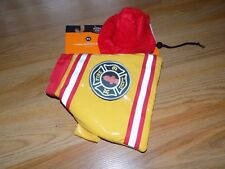 Size XS Hyde and Eek Firefighter Fire Chief Dog Pet Halloween Costume Set New