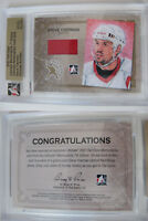 2006-07 ITG Ultimate Steve Yzerman 1/1 redemption jersey GOLD 1 of 1 red wings