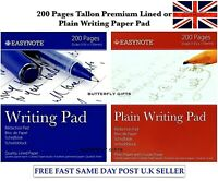 200 PAGES 135 X 170 MM DUKE WRITING DRAFT NOTE PAD RULED OR PLAIN PAPER SHEETS