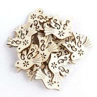 Making DIY Craft Peace Pigeon Wooden Scrapbooking Embellishment Natural Wood