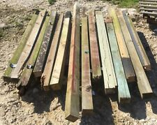 """Quantity of used 3""""x 3"""" Fence Posts Timber Wood nr Brighton"""