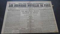 Newspapers the Last European Nouvelles de Paris N°36 July 1940 ABE