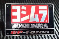 Logo Exhaust Yoshimura Motocycle Aluminium Decal Muffler Metal Badge Plate New