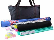 "FREE 31.5"" Tablecover + American Mahjong Waterproof Black Bag w/ RED Stitches"