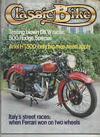 CLASSIC BIKE MARCH 1982 - ARIEL HT500 / DKW SS TEST