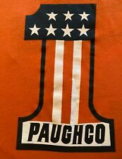 New listing Rare Vintage 1980s Paughco Motorcycle Parts T-Shirt~Top Cond~Orange Screen Stars
