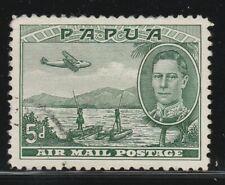 PAPUA 1939 5d  Green AIR SG 165 VFU