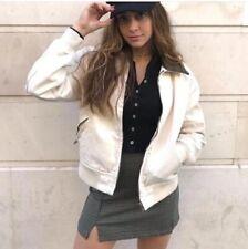brandy melville off white Kaylee Fur shearling denim jacket NWT sz S
