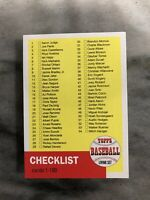 2019 Topps Living Checklist Cards 1-100 CL-01 Baseball Card - Quantity Available
