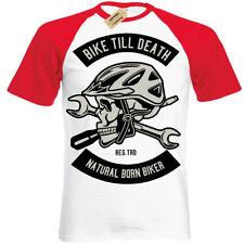Bicicleta hasta Muerte Camiseta Natural Recién Nacido Motero Manga Corta Béisbol