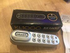 Kit-Lock KL1000Bk Digital coded locker set in Silver
