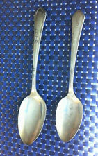 "SILVER PLATE 1936 WM ROGERS ONEIDA MEADOWBROOK HEATHER 8"" SERVING & 7"" SPOON SET"