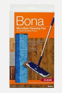 """Bona Microfiber Floor CLEANING PAD 4"""" x 15"""" Replacement Mop Head Wet or Dry NEW!"""