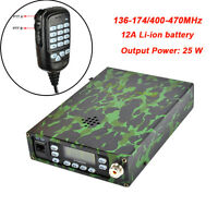 Dual Band VHF/UHF Backpackable Two Way Radio Mobile Transceiver Amateur Radio