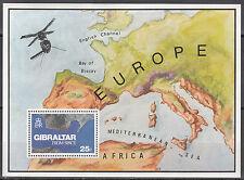 Gibraltar bloque nº 5 ** (372 **) Gibraltar desde el espacio fotografiado
