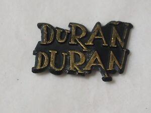 DURAN DURAN Black & Gold Souvenir Brooch Pin Vintage 1980
