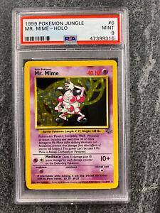 PSA 9 Mr. Mime Jungle Set Pokemon Card 6/64 Holo Rare 1999 Mint