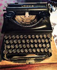 Authentic Vintage URANIA Typewriter Cyrillic Keyset and Original Wooden Case