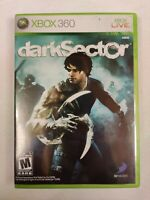 Dark Sector (Microsoft Xbox 360, 2008) Complete with Manual - Tested