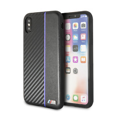 BMW M Collection Carbon/PU iPhone X, iPhone Xs Back Case Cover Schwarz/Blau