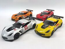 KINSMART 1:36 DISPLAY 2017 CHEVROLET CORVETTE C7-R DIECAST CAR 4 COLOR SET 5397D