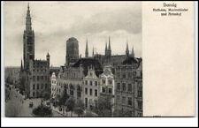 DANZIG Gdańsk Pommern ~1905 Rathaus Marienkirche Kirche und Artushof AK Polen