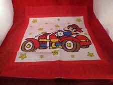 Super Mario Bros. in Car Nintendo NES Era Fabric Cloth Handkerchief Like Square