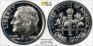 1964 10 Cent Dime PCGS PR68CAM Stunning blast white Cameo