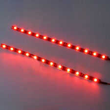 2PCS NEW 12 LEDs 30cm 5050 SMD LED Strip Light Waterproof 12V Car Decor