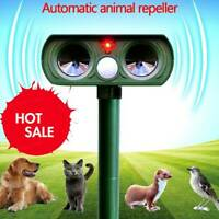 Solar Power Ultrasonic Pest Animal Repeller Garden Pet  Cat Dog Scarer Control