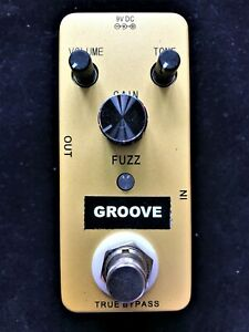 GROOVE  Fuzz GF1 guitar effects pedal with true by-pass