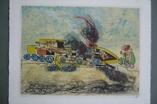 ROBERTO MATTA ETCHING IN COLOR LES OH! TOMOBILES FROM 1972 (RM 5a, 18)