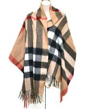 Burberry 100% Pure Cashmere Scarf Shawl Body Wrap Giant Check Designer Boxed Box